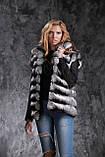 Жилет из шиншиллы  Natural chinchilla fur vest gilet, фото 4