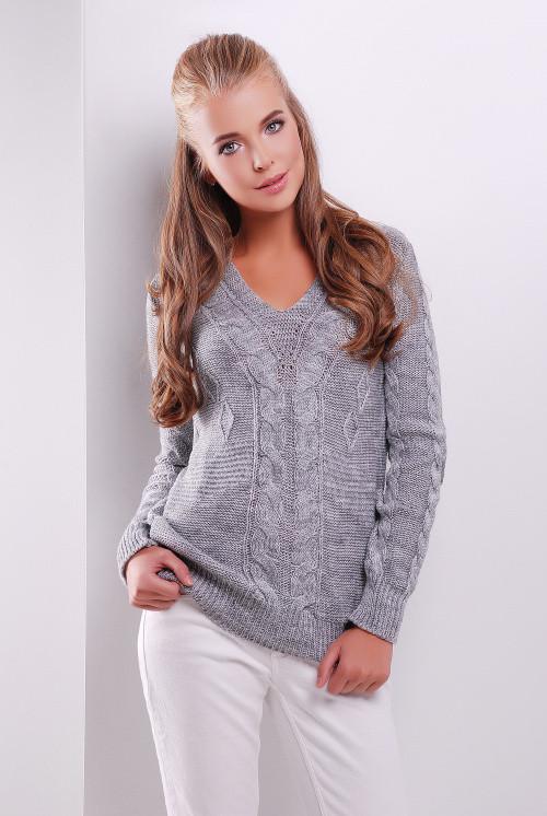 Джемпер 130 темно-серый 44-50