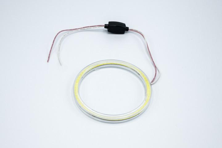 Светодиодные противотуманные фары HeadLight с функцией DRL ангельские глазки D=100мм