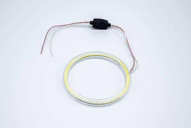Светодиодные противотуманные фары HeadLight с функцией DRL ангельские глазки D=100мм, фото 2