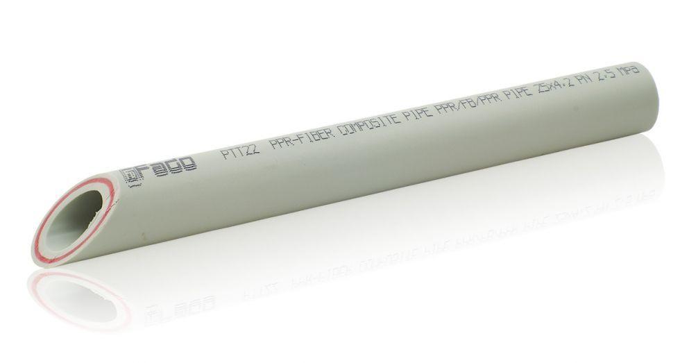 Труба FADO PP-RCT армированная стекловолокном (PPR-FB-PPR) PN-20 25х4,2