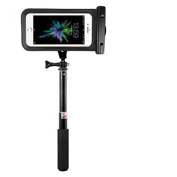 Водонепроницаемый селфи-монопод Jabees SelfieComboPackS1 3 в 1 со встроенным Bluetooth с чехлом Black (NHVI40665)