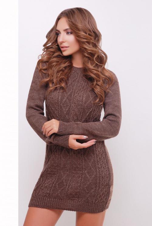 Платье-туника коричневый