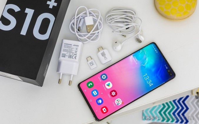 "Смартфон Samsung Galaxy S10 Plus (Самсунг с10+) 6.4"" 128Gb. 12-Ядер. 4G. Реплика Корея"
