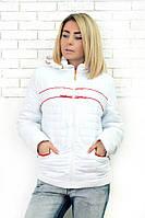 Куртка женская демисезонная Асоль (2 цвета), короткая куртка осень, весна 48, белый