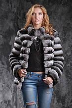 Шуба з шиншили Natural chinchilla fur coats jackets
