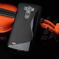 Силиконовый чехол Duotone для LG G4s Dual H734 чёрный, фото 1