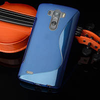 Силиконовый чехол Duotone для LG G4s Dual H734 синий, фото 1