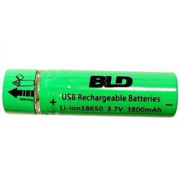 Акумулятор 18650 Li-ion 4.2 v BLD USB18650 3800 mAh c USB зарядкою (006423)