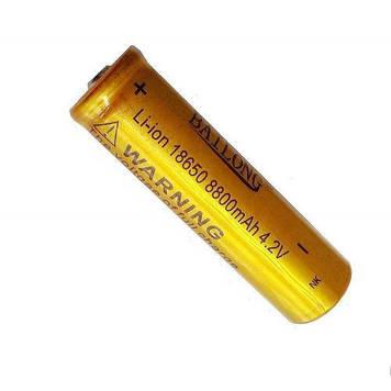 Акумулятор 18650 Li-Ion Bailong 8800 mAh 4.2 V Gold (006192)