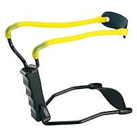 Рогатка с упором Man Kung T11, черная/желтая