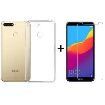 Чехол + Стекло Huawei Honor 7A – Комплект