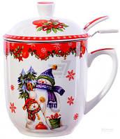 Чашка с заварником Новогодняя коллекция 300 мл 985-078 Lefard