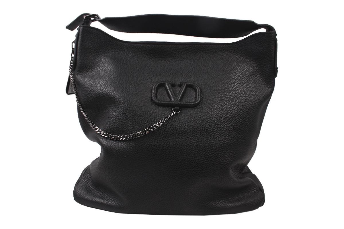 Модельная женская сумка из натуральной кожи, цвет черный