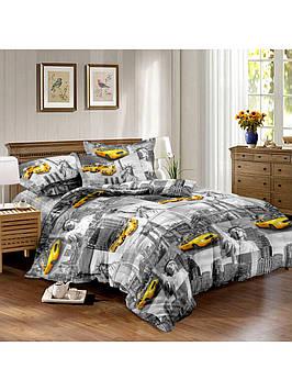 Комплект постельного белья сатин Taxi Украина