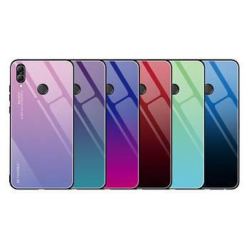 Чехол Huawei Honor 10 Lite градиент TPU+Glass