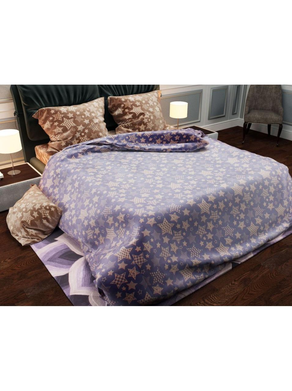 Комплект постельного белья бязь Бежевые Звезды