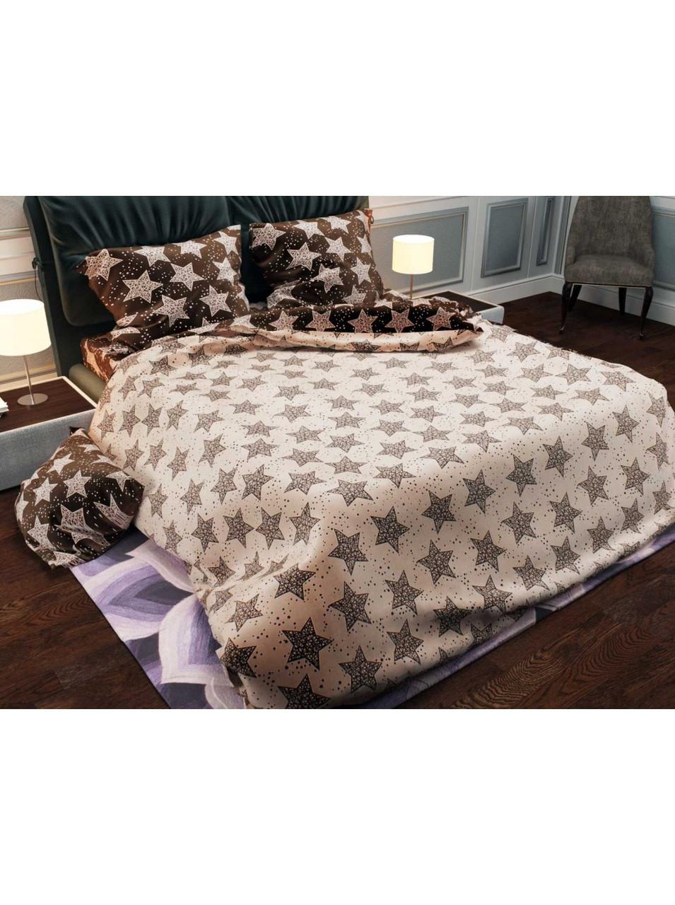 Комплект постельного белья бязь Коричневые Звезды