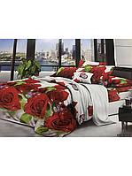 Комплект постельного белья из ранфорс Розы и Бабочки