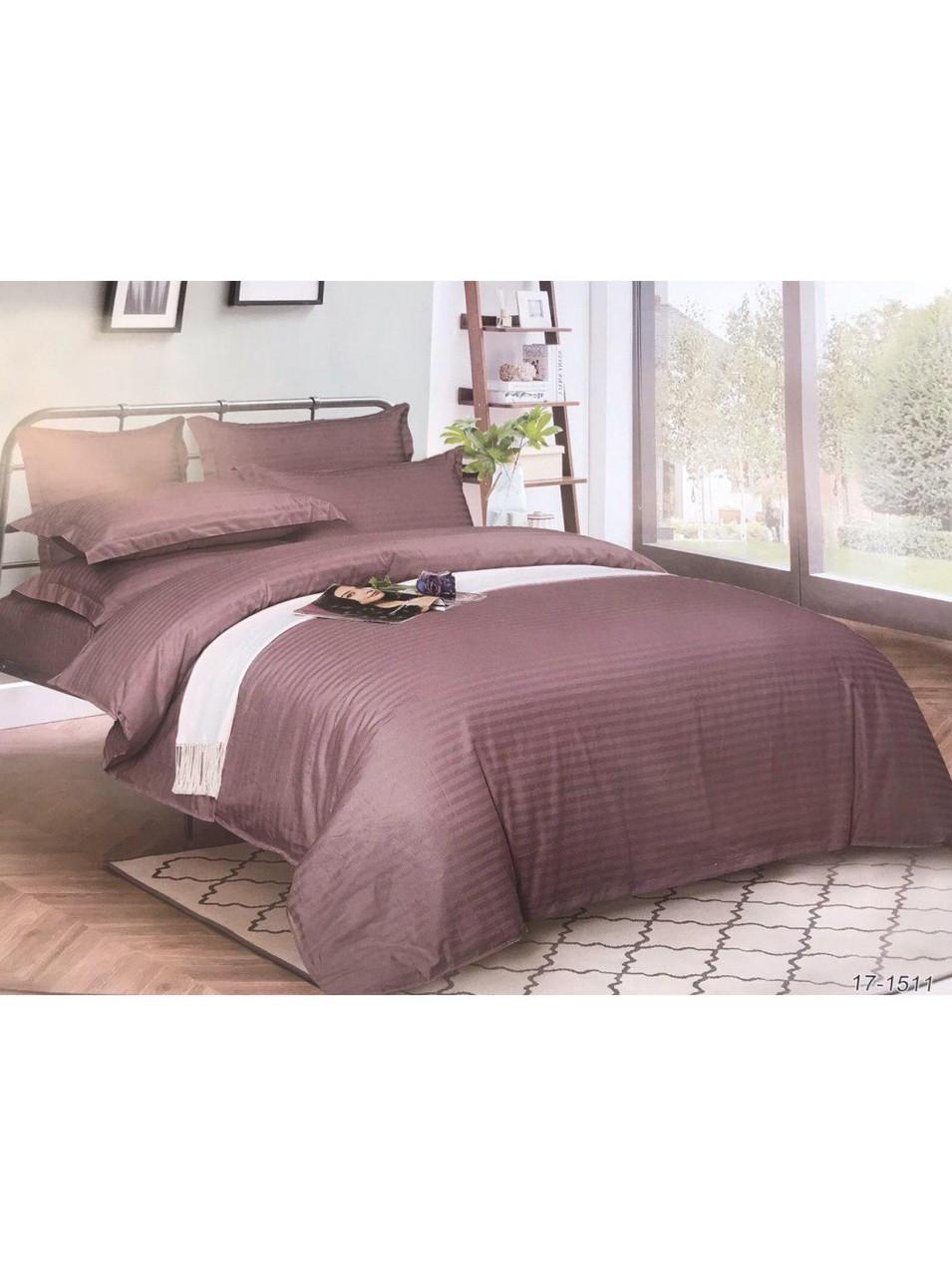 Комплект постельного белья страйп-сатин Грязный Фиолет