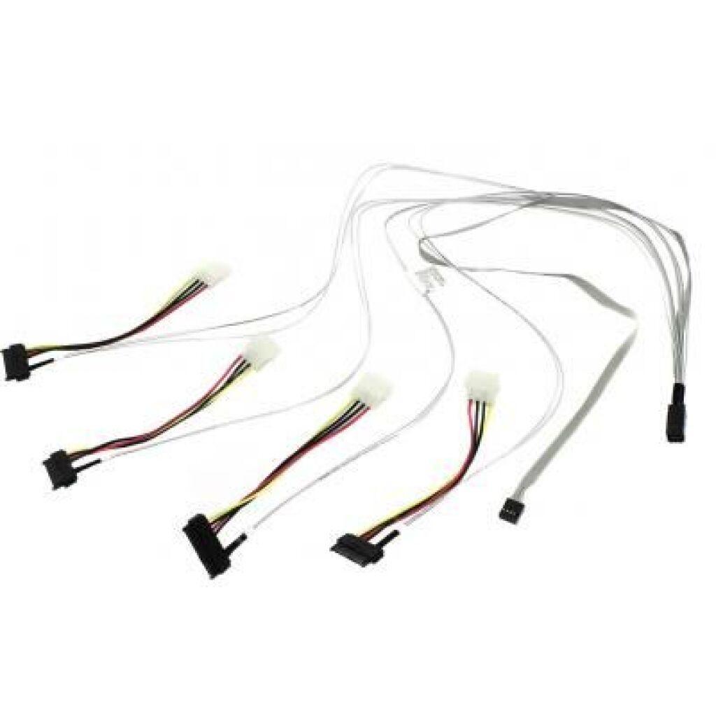 Кабель для передачи данных Adaptec ACK-I-HDmSAS-4SAS-SB-0.8M 2280100-R