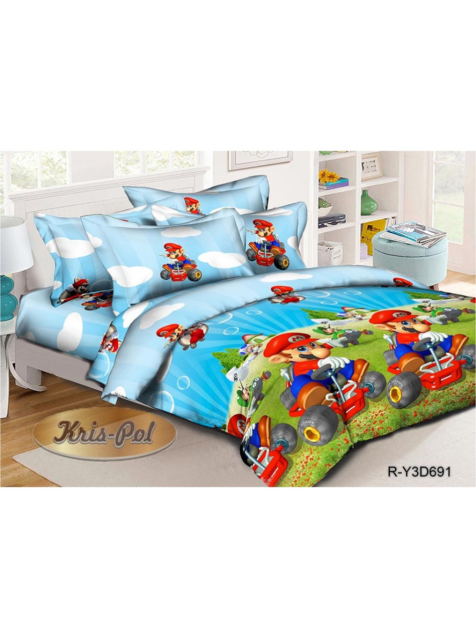Комплект детского постельного белья ранфорс Марио