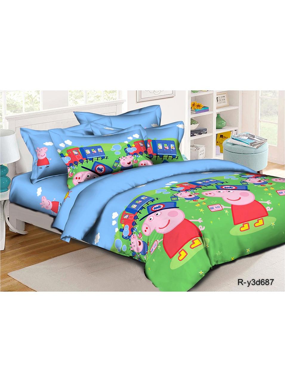 Комплект детского постельного белья ранфорс Свинка Пеппа