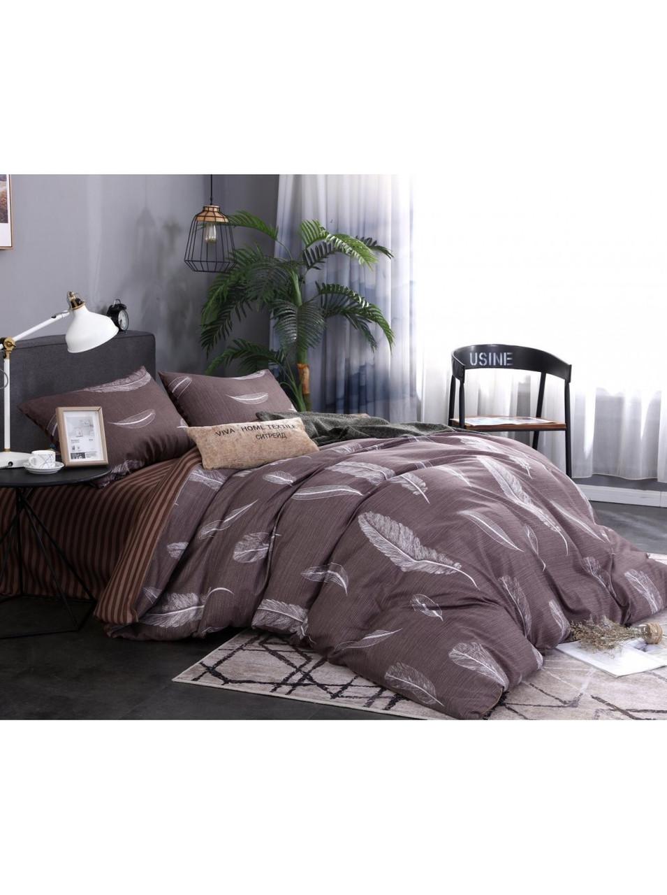 Комплект постельного белья бязь на резинке Белые Перышки