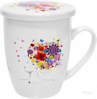 Чашка-заварник Цветочная муза 360 мл 21-279-003 Keramia