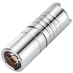 Ліхтар Wuben G337 (Cree XP-G2, 130 люмен, 2 режими, USB) з ланцюжком, титановий сплав