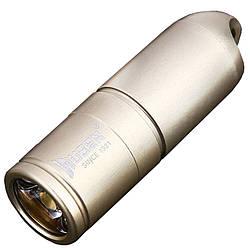 Ліхтар Wuben G344 (Cree XP-G2, 130 люмен, 2 режими, USB) з ланцюжком, золотий