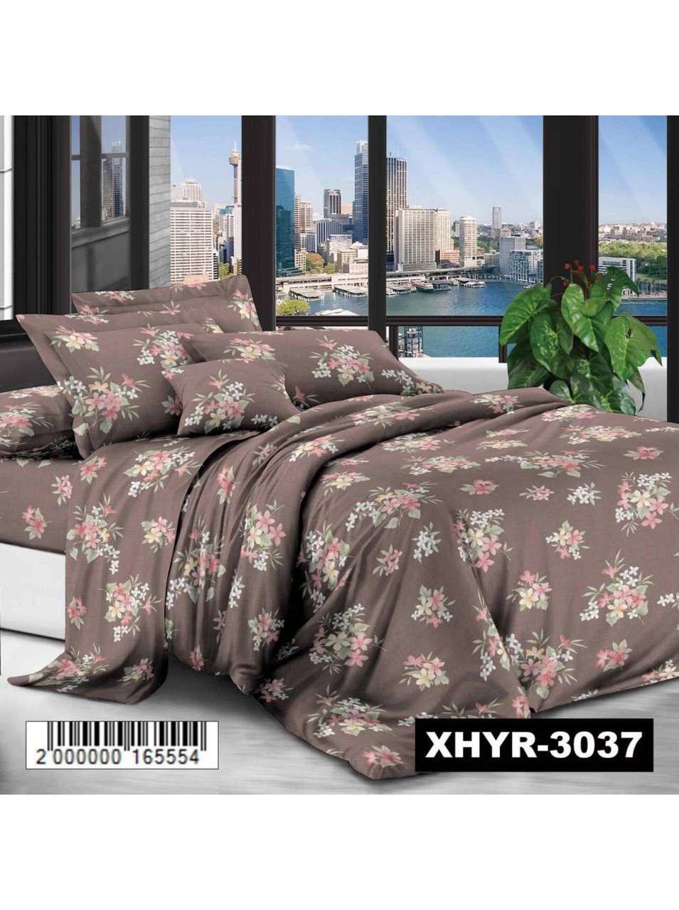 Комплект постельного белья полиэстер Букеты Цветов