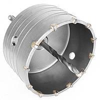 ✅ Комплект: сверло корончатое по бетону 105мм + переходник SDS Plus 100мм INTERTOOL SD-7105