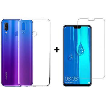 Чехол + Стекло Huawei Y9 2019 (Комплект)
