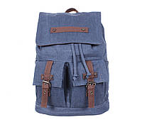 Добротный рюкзак из прочного материала 8634-3BLUE Синий оригинал - Акция!