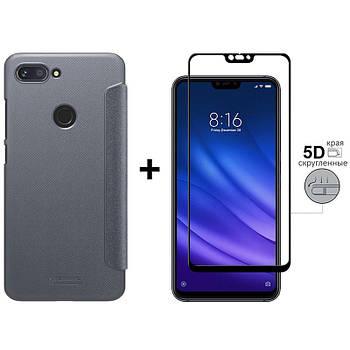 Чехол-Книжка + 5D Стекло Xiaomi Mi8 Lite (Комплект)