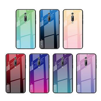 Чехол Xiaomi Redmi K20 Pro градиент TPU+Glass
