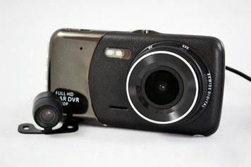 Відеореєстратор DVR T652 Full HD 1080p з камерою заднього виду Чорний (mt-60)