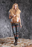 Жилетка из финской длинноворсной рыжей лисы SAGA и натурального дубляжа Тоскана