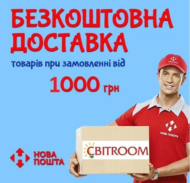 Бесплатная доставка по Украине при заказе на сумму от 1000 грн.