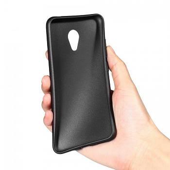 Черный силиконовый чехол на Мейзу М5
