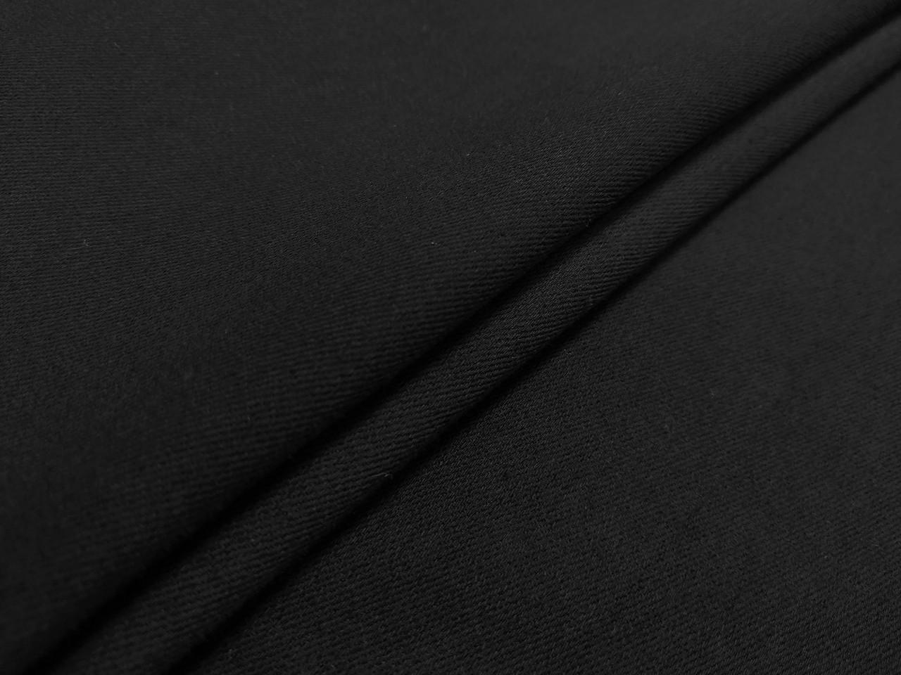 Джинс плотный, черный