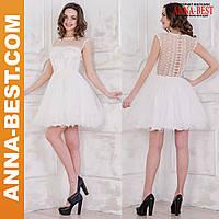 """Белое пышное свадебное, вечернее платье """"Диана"""""""