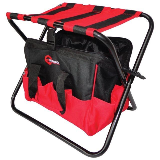 ✅ Складной стул с сумкой, универсальный до 90 кг 420 мм x 310 мм x 360 мм INTERTOOL BX-9006
