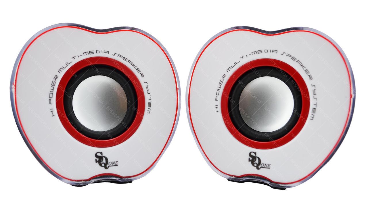 """Колонки """"Яблоко"""" для PC Dellta 2.0 USB 128X/028A красные"""