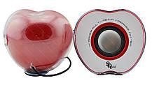 """Колонки """"Яблоко"""" для PC Dellta 2.0 USB 128X/028A красные, фото 2"""