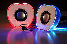"""Колонки """"Яблоко"""" для PC Dellta 2.0 USB 128X/028A красные, фото 3"""
