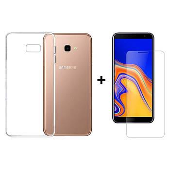 Чехол + Стекло Samsung J4 Plus 2018 (Комплект)