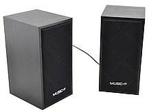 Компьютерные деревянные колонки акустика Music-F D09 (черные), фото 2