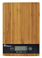 Електронні кухонні дерев'яні ваги на 5 кг Domotec MS-A